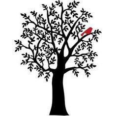 Silhouette Design Store - View Design winter tree with red bird Silhouette Images, Bird Silhouette, Silhouette Design, Silhouette Studio, Feather With Birds Tattoo, Black Bird Tattoo, Tattoo Sketch Art, Bird Of Paradise Wedding, Tree Stencil