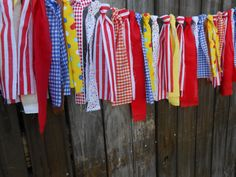 Teacher Classroom, Circus Inspired, Carnival Inspired Banner Scrappy Fabric Rag Tie  Garland Photo Prop Smash Cake First on Etsy, $26.82 CAD