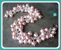 Brazalete perlas Rosa Cultivadas by Royals