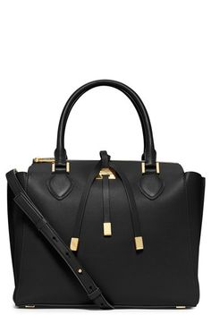 Women's Michael Kors 'Miranda - Large' Leather Satchel