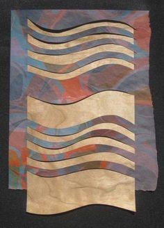 """© Helen Hiebert, 100 x 100 Paper Weavings #17, 10"""" x 8"""", $100"""