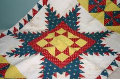 Vintage Hand pieced doll quilt cover or pillowcase, Enchantments by Rhonda, Ruby Lane