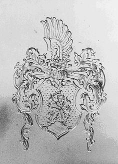 Heraldic engraving. Silver. 1938 (Ernst Brephol, Anstadt)