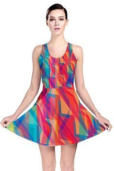 Triangle Opticals_MirandaMol Reversible Skater Dress #pinkcess #mirandamol #fashion #cool #dress #summer #pinkcess #pinkcessfashion #pnkx