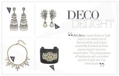 """2013 Trend Alert: Art Deco inspired pieces a la """"The Great Gatsby"""""""