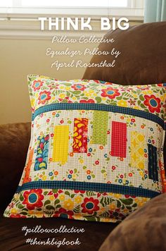 The {studio} blog by April Rosenthal | Pillow Collective: Equalizer Pillow | http://www.aprilrosenthal.com