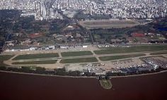 "Jorge Newbery Airfield (Spanish: Aeroparque ""Jorge Newbery"", IATA: AEP, ICAO: SABE) is an international airport located in Palermo neighbourhood, 2 km (1.2 mi) northeast of downtown Buenos Aires, Argentina. The airport covers an area of 138 hectares (341 acres) and is operated by Aeropuertos Argentina 2000 S.A."