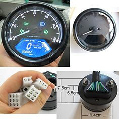 Best price on Reddragonfly - 199 km/h 12000 rpm LCD Digital Speedometer Tachometer Odometer mph / kmh for Honda Motorcycle Sctoor Golf Carts ATV // See details here: http://bestmotorbikereviews.com/product/reddragonfly-199-kmh-12000-rpm-lcd-digital-speedometer-tachometer-odometer-mph-kmh-for-honda-motorcycle-sctoor-golf-carts-atv/ // Truly a bargain for the inexpensive Reddragonfly - 199 km/h 12000 rpm LCD Digital Speedometer Tachometer Odometer mph / kmh for Honda Motorcycle Sctoor Golf…