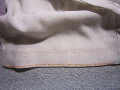 Couture debutante du 77: Coudre un ourlet invisible à la MAC : pour vos rideaux et vos pantalons...