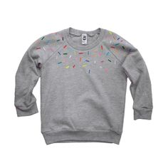 confetti heather kids sweater