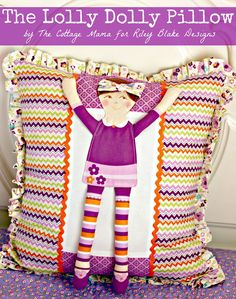 Riley Blake Designs Blog: Project Design Team Wednesday~The Lolly Dolly Pillow
