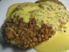 Meagan vs. The Forex: Pretzel Chicken with Cheddar Sauce