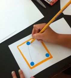 Learning letters-place small stickers as dots for children to connect to make letters