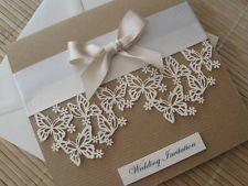Convite de casamento Themed Vintage de luxo - Design de corte borboleta Laser com cetim