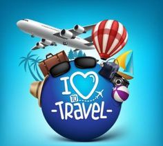 3D Realistic Travel and Tour Poster Design Around the World with Summer Elements. Vector Illustration