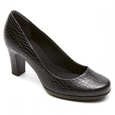 ROCKPORT TOTAL MOTION PUMP BLACK CROC PRINT