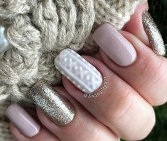 Nude, glitter, and sweater come together in a stunning style that can carry you from Christmas to New Year's.