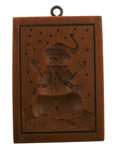 """""""Frosty"""" wooden cookie mold"""