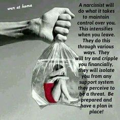 Leaving a narcissist is never easy!