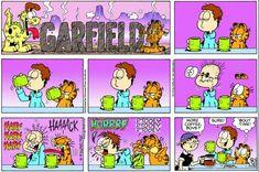 Garfield Quotes, Garfield Cartoon, Garfield And Odie, Garfield Comics, Garfield Wallpaper, Hagar The Horrible, Online Comics, Snoopy Love, School Humor