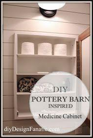 diy Design Fanatic DIY Pottery Barn Inspired Medicine Cabinet  sc 1 st  Pinterest & double medicine cabinet how to / diy build a single with a prettier ...
