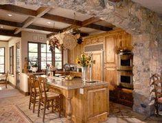 Warm natural wood kitchen