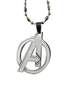 """Marvel Movie Avenger Based Pendant with Metal Necklace. This is a beautiful stainless #Avenger pendant that comes with a 20"""" ball #necklace - Buy Now From ProCuffs.com"""