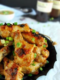 Easy oven roasted chicken wings and drumettes, glazed with a savory ...