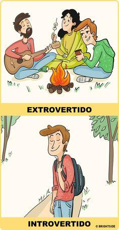 11 Desenhos que mostram perfeitamente como os introvertidos e extrovertidos vêem o mundo - Introvertidamente