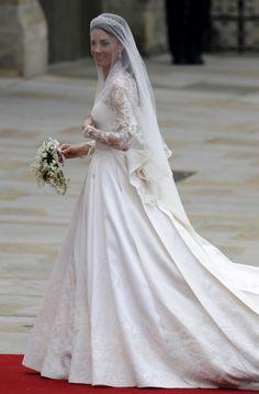 Celebrity Wedding Dresses: Top 12 Most Noticeable Gowns - Kate Middleton   #wedding #celebrity