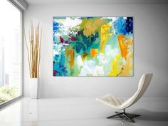 Extra Large Wall Art Original Handpainted Contemporary XL Abstract Painting Horizontal Vertical Huge Size Art Bright and Colorful Large Abstract Wall Art, Large Art Prints, Canvas Art Prints, Canvas Wall Art, Unique Paintings, Abstract Paintings, Canvas Paintings, Bathroom Paintings, Contemporary Paintings
