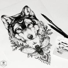 Image result for abstract wolf tattoo