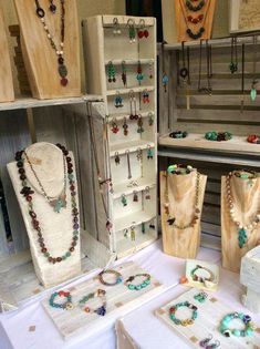 Some of Rebecca's beautiful jewelry by Rebecca of Songbead