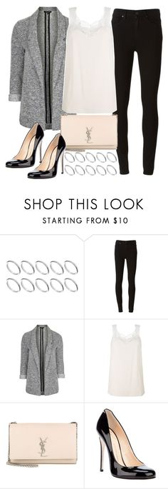Untitled #777 by foreverdreamt on Polyvore featuring Topshop, Paige Denim, Chloé, Giuseppe Zanotti, Yves Saint Laurent and ASOS