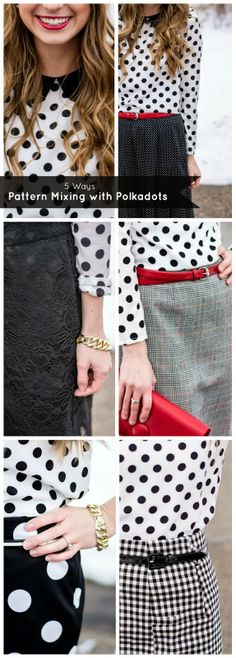 5 Ways // Pattern Mixing with Polka Dots - perfect to ease into pattern mixing