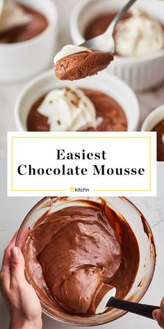 Food Stylist: Pearl Jones/Kitchn Chocolate mousse is the decidedly decadent, old-school dessert you've been overlooking for Old School Desserts, Fancy Desserts, Classic Desserts, Just Desserts, Delicious Desserts, Dessert Recipes, Yummy Food, Pudding Desserts, Dessert Food