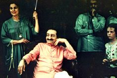 Meher Baba with Anita Vieillard,  Meher Center.  1958