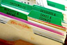 Recipe Organization | Stretcher.com - How to organize all your recipes