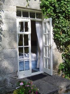Open The White French Doors, To Enter (The Beautiful Blue Path To) The Garden