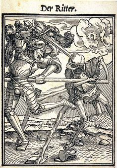 Dance of Death, also variously called Danse Macabre, Dança de la Mòrt , Danza Macabra or Totentanz is a late-medieval allegory on the universality of death. Here you can see images and poetry about death and dying Dance Of Death, Medieval Drawings, Medieval Art, Medieval Paintings, Renaissance, Vanitas, Memento Mori, La Danse Macabre, Hans Holbein The Younger