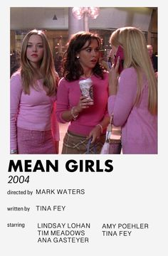 mean girls minimalistic style movie poster [inspired by andrew kwan] Iconic Movie Posters, Minimal Movie Posters, Iconic Movies, Girl Posters, Room Posters, Poster Wall, Mean Girls Movie, Style Movie, Film Poster Design