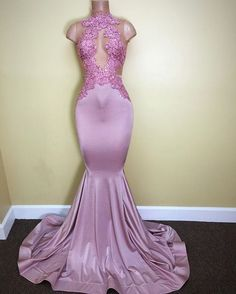 2017 Lilac Mermaid Prom Dresses Sheer Lace Appliques Sleeveless Evening Gowns  _Prom Dresses_2017 Special Occasion Dresses_Wholesale Wedding Dresses, Lace Prom Dresses, Long Formal Dresses, Affordable Prom Dresses - High Quality Wedding Dresses - Yesbabyonline.com