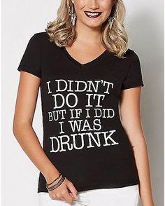 I Didn't Do It T Shirt - Spencer's