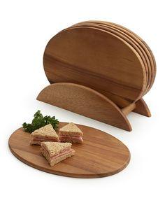 Look at this #zulilyfind! Seven-Piece Oval Serving Board Set by Woodard & Charles #zulilyfinds