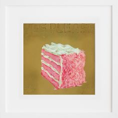"""Martha Rich """"Yes Please"""" at 20x200.com. Yummy.  Wouldn't this be a cute pop of color somewhere? maybe I'm just hungry."""