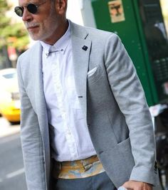 See all of George's Four Pins street style here. George Elder is a photographer living in New York. New York Fashion Week Street Style, Autumn Street Style, Casual Street Style, Nick Wooster, Gentlemen Wear, Hipster Man, Blazers For Men, Menswear, Men Casual