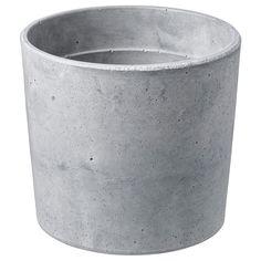 BOYSENBÄR in/outdoor light grey, Plant pot, 12 cm - IKEA