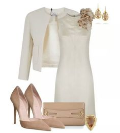 Ultimate Combination of White Dress with Brown Shoes and Bag
