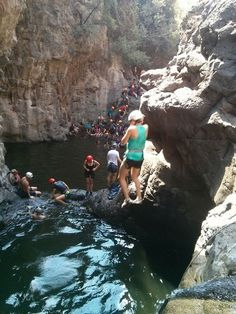 Someone said rappelling ??? 35 minutes from the hostel.....and we have nothing else to say