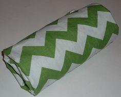 Green Chevron Stroller Blanket by Greenerbeginnings on Etsy, $32.00